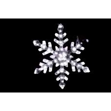 Снежинка светодиодная белая с контроллером 58*58 см