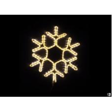 Снежинка светодиодная тёплая белая 60*58 см