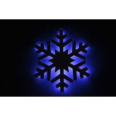 Снежинка светодиодная синяя с контражуром, 46*46 см