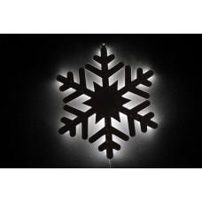 Снежинка светодиодная белая с контражуром, 46*46 см