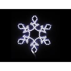 Снежинка светодиодная белая, 55*55 см
