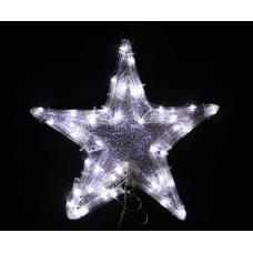 Звезда светодиодная белая, 30*30 см