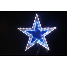 Звезда светодиодная белая/синяя 61*61 см