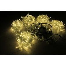Светодиодный спайдер LED-PLS-200*5-20M*5-24V-WW/CL теплый белый, прозрачный провод, 5 нитей по 20 м, с трансформатором