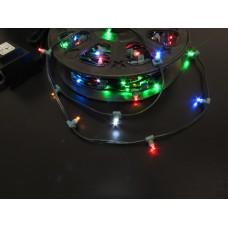 Светодиодный клип-лайт LED-LP-15СМ-100M-12V-M мульти, темно-зеленый провод