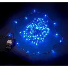 Светодиодный клип-лайт LED-LP-15СМ-100M-12V-B синий, темно-зеленый провод