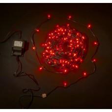 Светодиодный клип-лайт LED-LP-15СМ-100M-12V-R красный, темно-зеленый провод