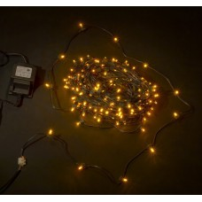 Светодиодный клип-лайт LED-LP-15СМ-100M-12V-Y желтый, темно-зеленый провод