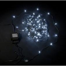 Светодиодный клип-лайт LED-LP-15СМ-100M-12V-W белый, темно-зеленый провод