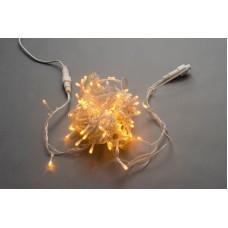 Светодиодная гирлянда LED-PLS-200-20M-240V-Y/C-W/O желтая, прозрачный провод, соединяемая (без силового шнура) 20м