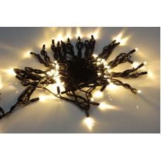 Светодиодная гирлянда LED-PLR-100-10M-240V-WW/BL-W/O, белая теплая, черный провод, соединяемая (без силового шнура) 10м