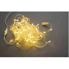 Светодиодная гирлянда LED-PLS-200-20M-240V-WW/C-W/O белая теплая, прозрачный провод, соединяемая (без силового шнура) 20м