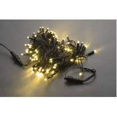 Светодиодная гирлянда LED-PLS-200-20M-240V-WW/BL-W/O белая теплая, черный провод, (без силового шнура) с колпачком, 20м