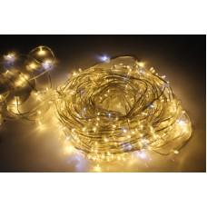 Светодиодный клип-лайт LED-LP-15-100M-12V-WW/CL-F(W), теплый белый, белый Flash, прозрачный провод (c насадкой-колпачек)