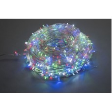 Светодиодный клип-лайт LED-LP-15-100M-12V-M-F(W), мульти, белый Flash, прозрачный провод (без колпачка)