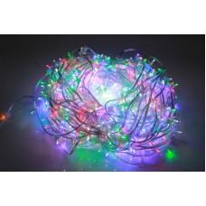 Светодиодный клип-лайт LED-LP-15-100M-12V-M/CL-F(W), мульти, белый Flash, прозрачный провод (c насадкой-колпачек)