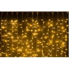 Светодиодный занавес LED-PLS-1920-24V-2*1,5М-WW/WH (белые теплые светодиоды/белый провод) 2*1,5 м, 24V без трансформатора