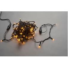 Светодиодная гирлянда LED-PLS-200-20M-240V-Y/BL-W/O желтая, черный провод, соединяемая (без силового шнура) 20м