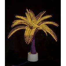 Светодиодная Пальма Японская, жёлтая 1,2 м