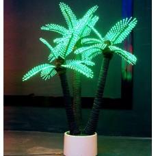 Светодиодная Пальма кокосовая тройная, зелёная 1,5*2,2 м