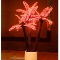 Светодиодная Пальма кокосовая тройная красная 1,5*2,2 м