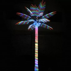 Светодиодная Пальма кокосовая, RGB (смена цветов) 2,0*2,0 м