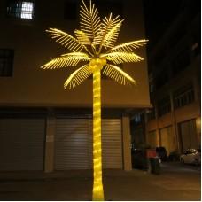 Светодиодная Пальма кокосовая, жёлтая 3,0*3,0 м