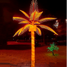 Светодиодная Пальма кокосовая, красная 3,0*3,0 м