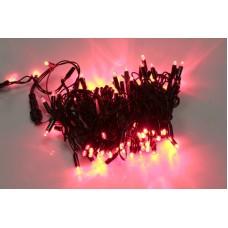 Светодиодная гирлянда LED-PLS-100-10M-24V-R/BL-W/O красная, черный провод, соединяемая (без силового шнура) 24V, 10 м
