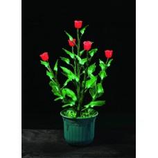 Куст светодиодный, красные розы в горшке, 0,6 м