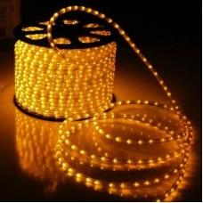 Дюралайт светодиодный с мерцанием LED-XD-2W-100M-240V-Y-S Flash (каждый 6-ой), желтый, 13мм, кратность резки 2м