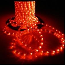 Дюралайт светодиодный с мерцанием LED-XD-2W-100M-240V-R-S Flash (каждый 6-ой), красный, 13мм, кратность резки 2м