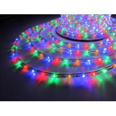 Дюралайт светодиодный трёхжильный LED-DL-3W-50M-220V-M мульти, 13 мм, с динамикой, кратность резки 2м