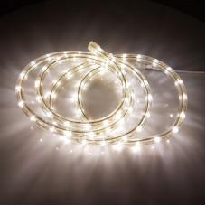 Дюралайт светодиодный трёхжильный LED-DL-2W-90M-2,77-2M-220V-W белый теплый, 13мм, с динамикой, матовый, кратность резки 4м