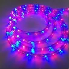Дюралайт светодиодный трёхжильный LED-XD-3W-100M-240V(R/B) красный/синий, 13мм, с динамикой, кратность резки 4м