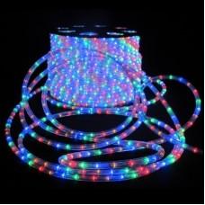 Дюралайт светодиодный трёхжильный LED-XD-3W-100M-240V мульти (R/Y/B/G) 13мм, с динамикой, кратность резки 4м