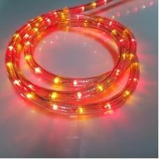 Дюралайт светодиодный трёхжильный LED-XD-3W-100M-240V красный/желтый (R/Y), 13мм, с динамикой, кратность резки 4м