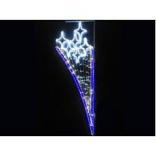 Консоль 6 Звезд синий белый FLASH 200*65 см