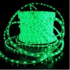 Дюралайт светодиодный двухжильный LED-DL-2W-240V-90M-G зеленый, 13мм, кратность резки 2м