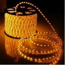 Дюралайт светодиодный двухжильный LED-DL-2W-ф13-2.77-100M-240V желтый, 13мм, кратность резки 3,3м