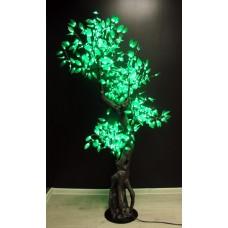 Дерево светодиодное с зелеными листьями 1,8*1 м
