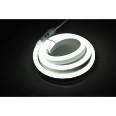 Гибкий неон LM-220V-2835-120P-W, белый, 8х18мм, кратность резки 1м