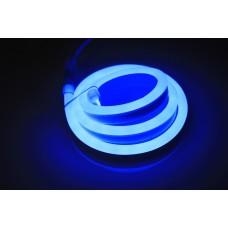 Гибкий неон LM-220V-2835-120P-B, синий, 8х18мм, кратность резки 1м
