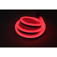 Гибкий неон LM-220V-2835-120P-R, красный, 8х18мм, кратность резки 1м