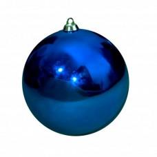 Новогодний шар, глянцевый, синий (от 60 до 300 мм)
