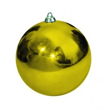 Новогодний шар, глянцевый, золотой (от 60 до 300 мм)