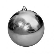 Новогодний шар, глянцевый, серебряный (от 60 до 300 мм)