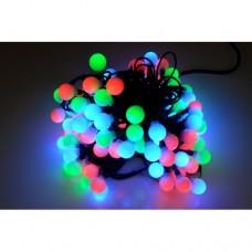 Светодиодная гирлянда шарики LED-PLR-100-15M-25MM-240V-RGB/WH -W/O медленная смена цветов, белый провод (без силового шнура) 15м