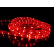Дюралайт светодиодный двухжильный LED-СDL-2W-100M-220V-3,33СМ-R красный, 13мм, цветная оплетка, кратность резки 2м
