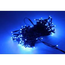 Светодиодная гирлянда LED-PLR-200-20M-240V-B/BL-W/O, синяя, черный провод, соединяемая (без силового шнура) 20м